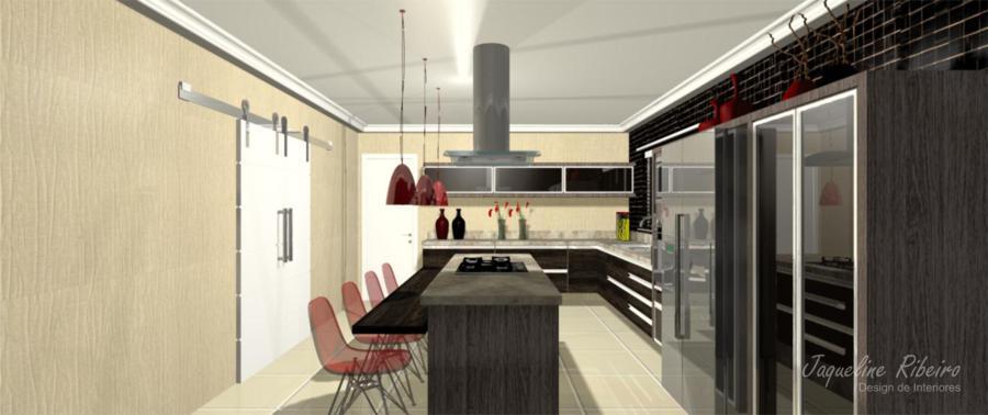 Cozinha moderna vista geral do ambiente