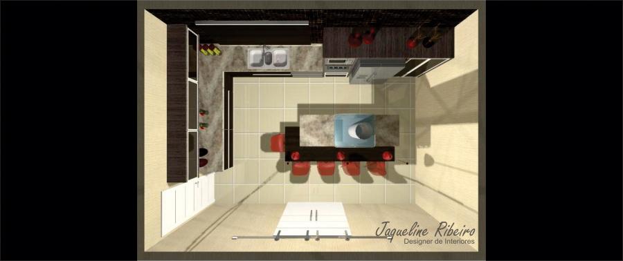 Cozinha moderna - Vista superior