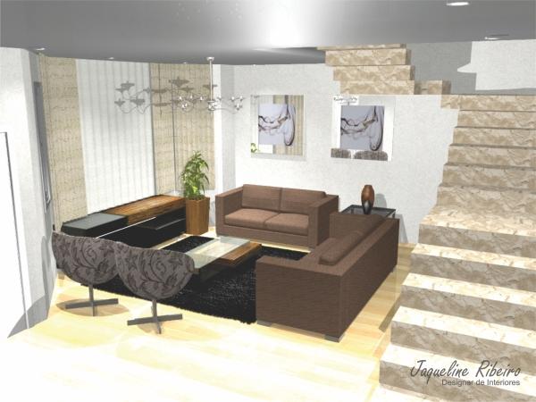 Sala de estar - Madeira de demolição - Vista rack e sofá