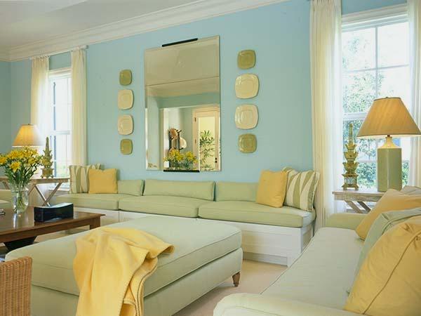 Combinação análoga - cores entre o amarelo e o azul
