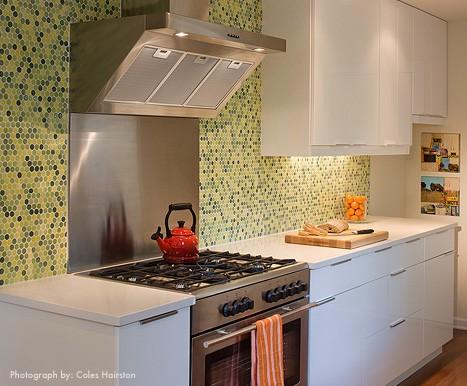 Cozinha pastilha verde - Simples Decoração