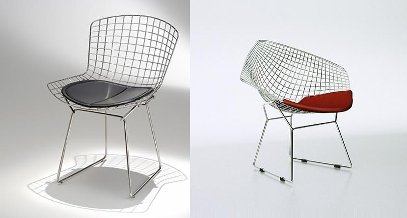 Cadeira e Poltrona Bertoia