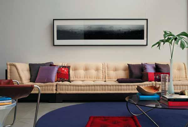 Quadro sobre sofá - Casa.com.br