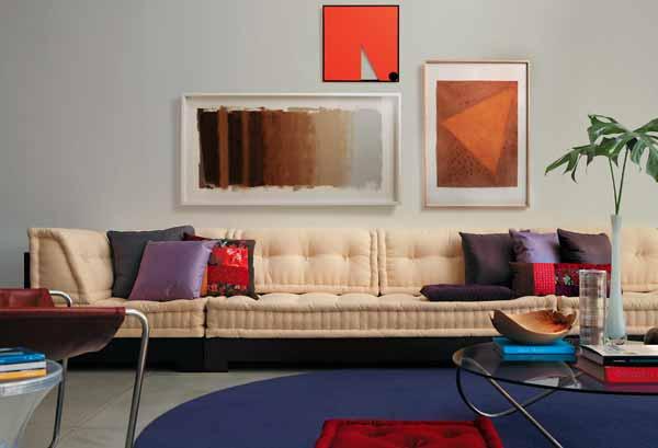 Quadros sobre sofá - Casa.com.br