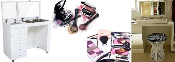 Bancadas de maquiagem