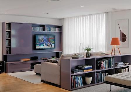 Sala de TV da arquiteta Patricia Martinez