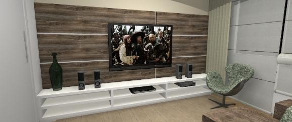 Painel para TV e Rack