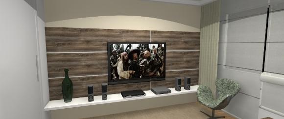 Painel para TV e Prateleira para DVD