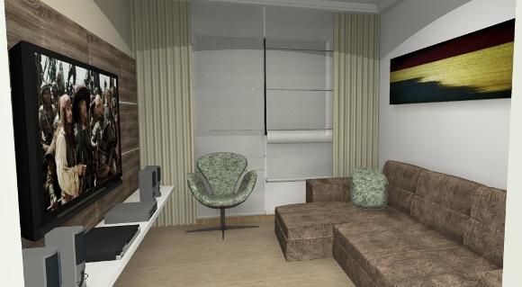 Sala com vista da porta