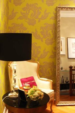 Hall das designers de interiores Selma Milaré Rubim e Solange Vieira Rubim