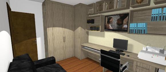 Guarda-roupa em L - Projeto 3D
