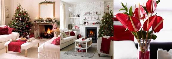 Decoração da sala para o Natal