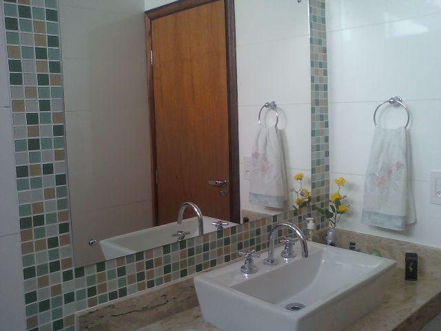 Pastilhas no banheiro Parte2  Design Interiores  Jaqueline Ribeiro -> Decoracao De Banheiro Com Vaso Cinza