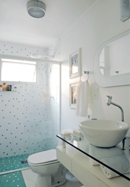 Pastilhas no banheiro Parte2  Design Interiores  Jaqueline Ribeiro