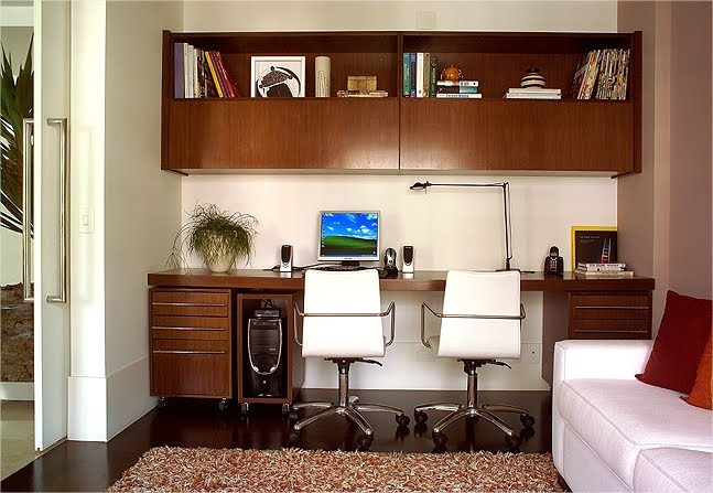 Decora o de home office design de interiores - Escritorios para casas ...