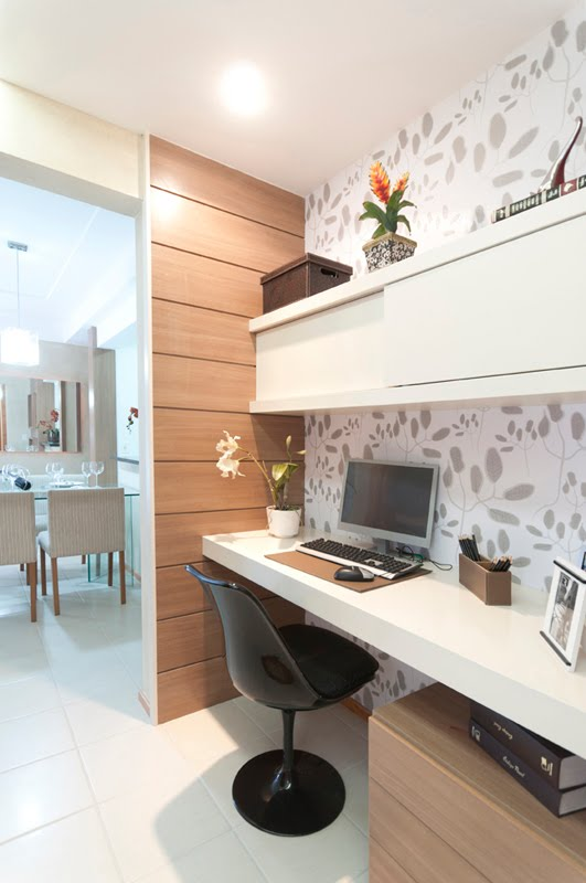 Decora o de home office design de interiores jaqueline ribeiro for Oficinas pequenas modernas en casa