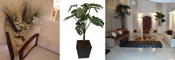 Plantas artificiais na decoração
