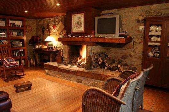 decoracao de interiores casas de madeira:Decoração de casa de campo