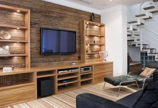 Fotos De Sala De Tv Com Escritorio ~ Decoração de casa de campo  Design de Interiores  Jaqueline